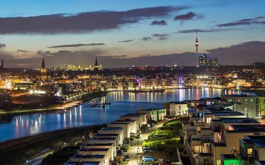 Blick über Dortmund.