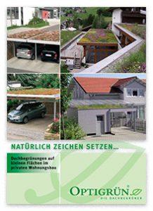"""Broschüre """"Dachbegrünung auf kleinen Flächen im privaten Wohnungsbau"""""""