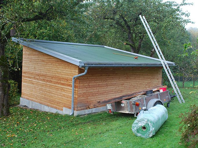 Die wurzelfeste Dachabdichtung - bereit für die Begrünungsarbeiten.