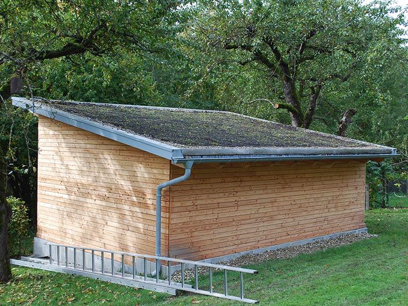 Die fertige Dachbegrünung. Der Winter kann kommen.