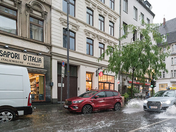 Unwetter in Köln.